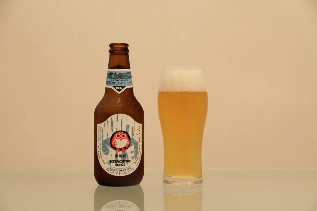 常陸野ネストビール「ホワイトエール」とグラス