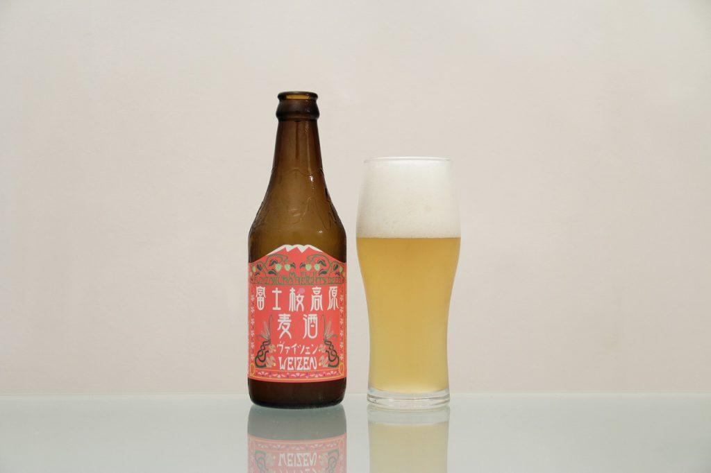 富士桜高原麦酒「ヴァイツェン」とグラス