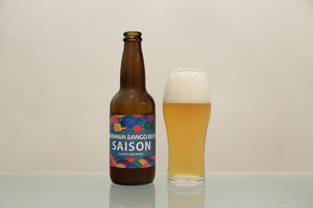 OKINAWA SANGO BEER「SAISON」とグラス