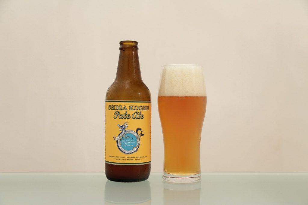 志賀高原ビール「ペールエール」とグラス