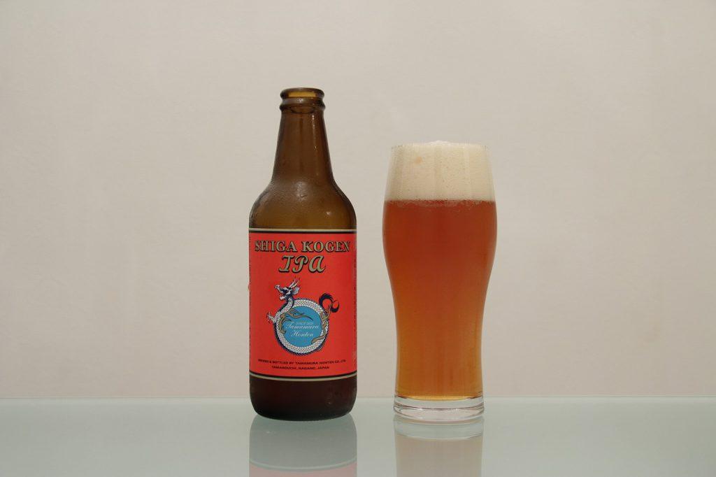志賀高原ビール「IPA」とグラス