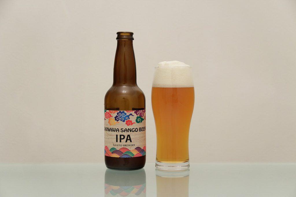 OKINAWA SANGO BEER「IPA」とグラス