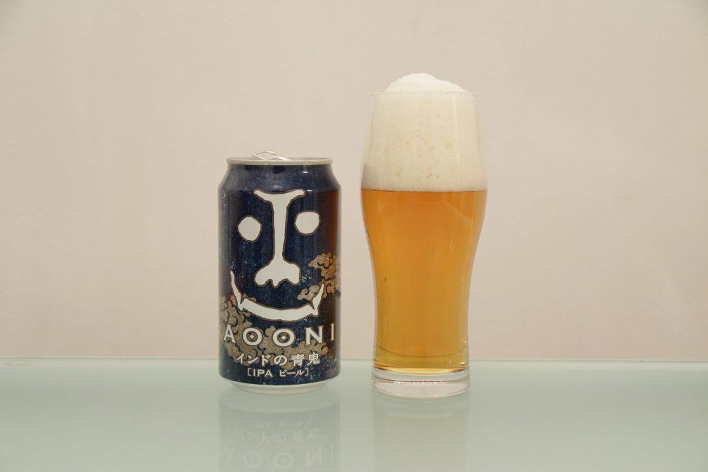 よなよなエール醸造所「インドの青鬼」とグラス