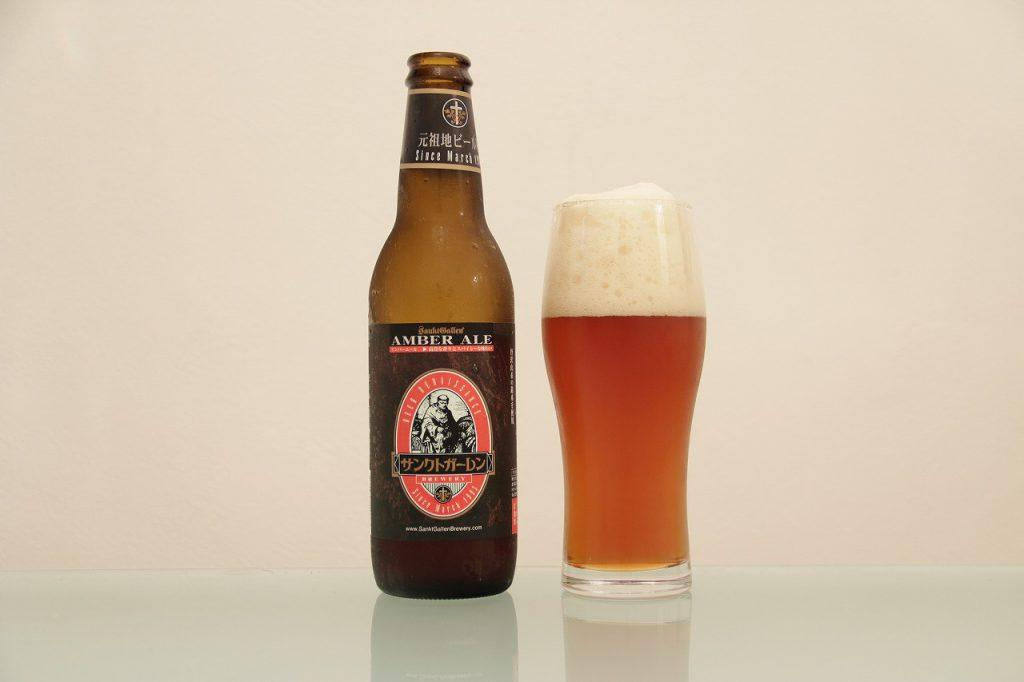 サンクトガーレン「アンバーエール」とグラス