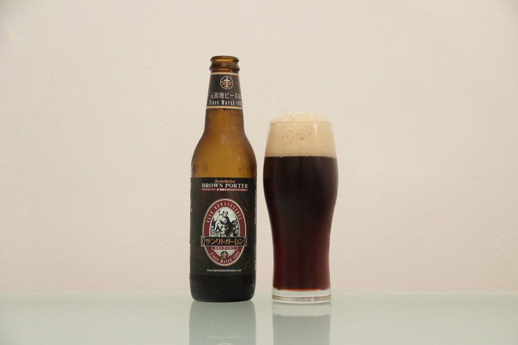 サンクトガーレン「ブラウンポーター」とグラス